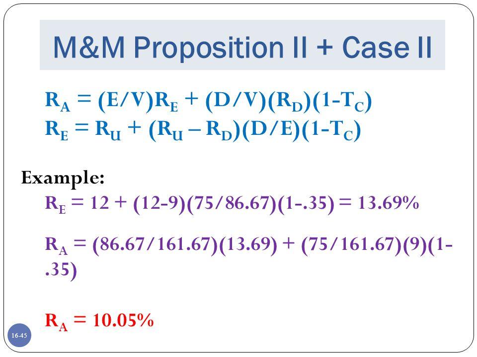 M&M Proposition II + Case II