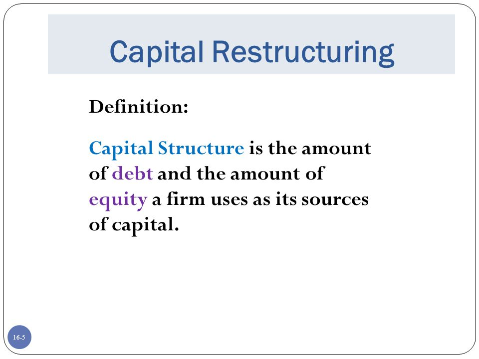 financial leverage and capital structure policy Free essay: chapter 16 financial leverage and capital structure policy answers to concepts review and critical thinking questions 1.