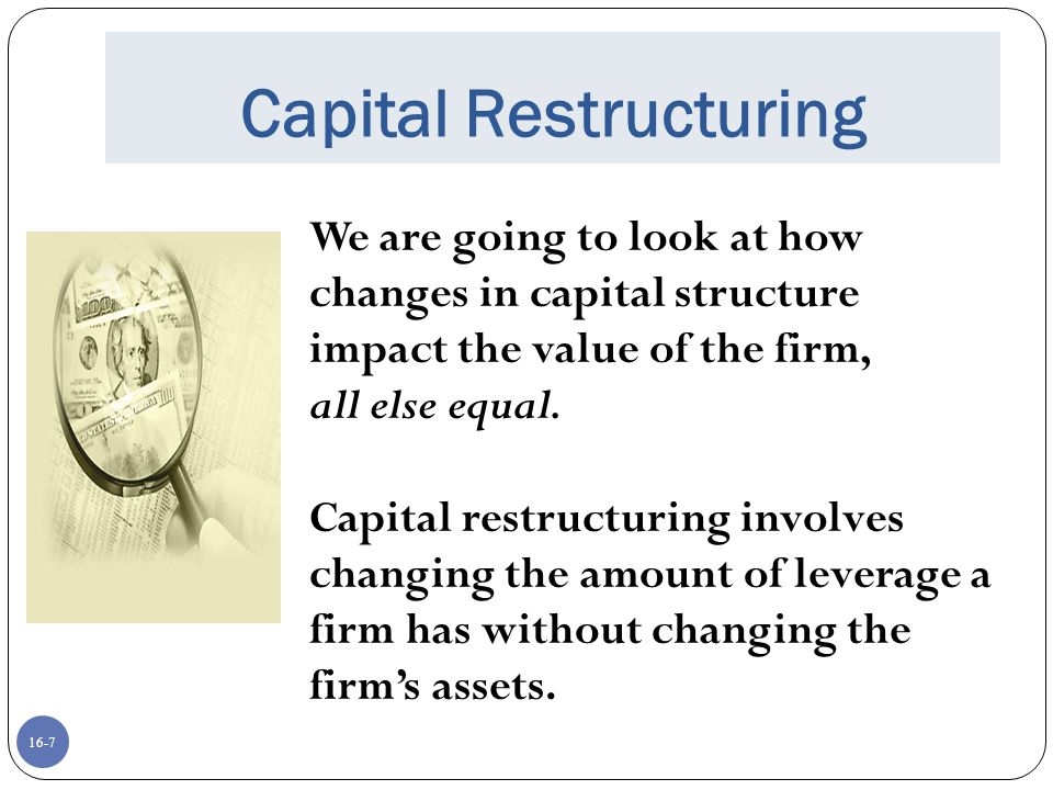 Capital Restructuring