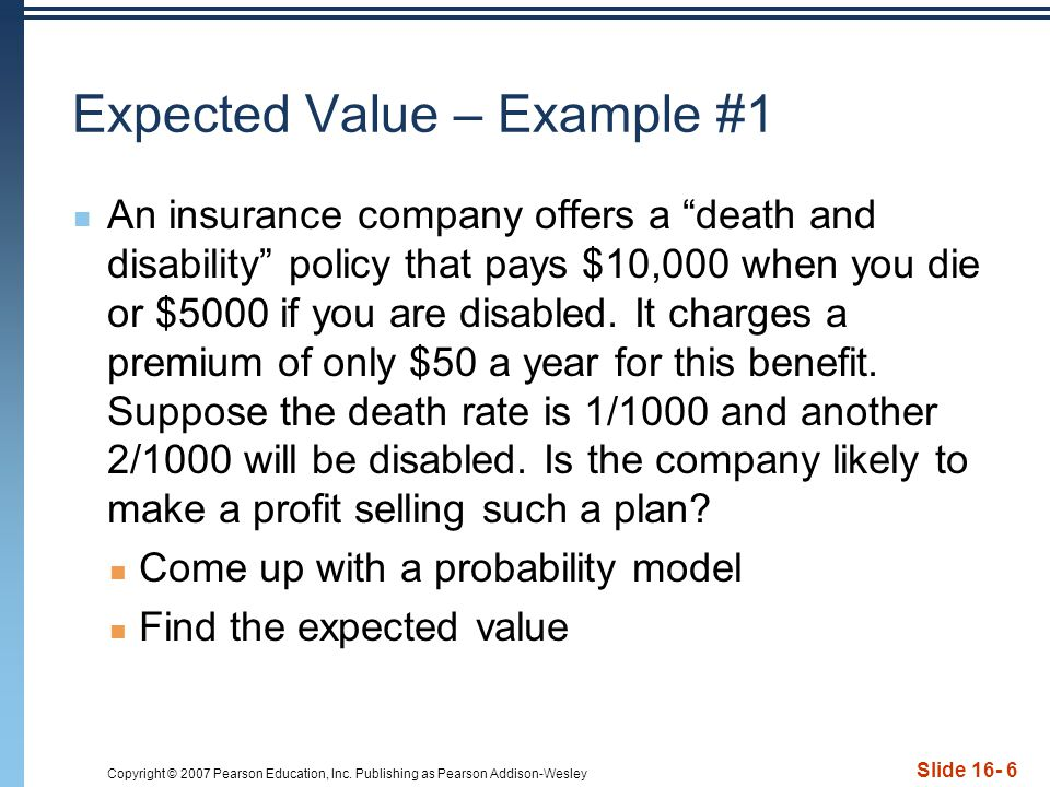 Expected Value – Example #1