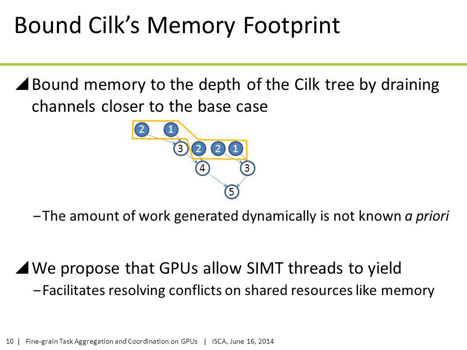 Bound Cilk's Memory Footprint