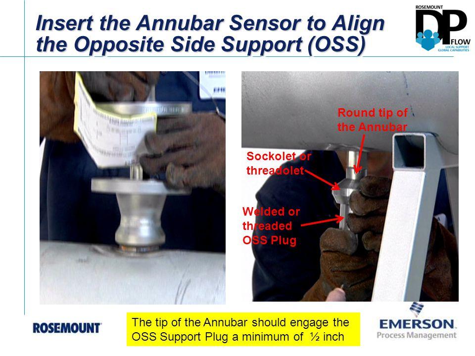 Insert the Annubar Sensor to Align the Opposite Side Support (OSS)