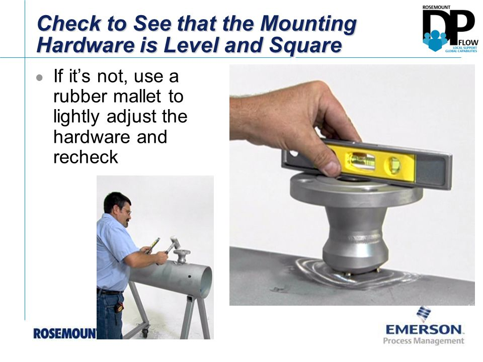 Check to See that the Mounting Hardware is Level and Square