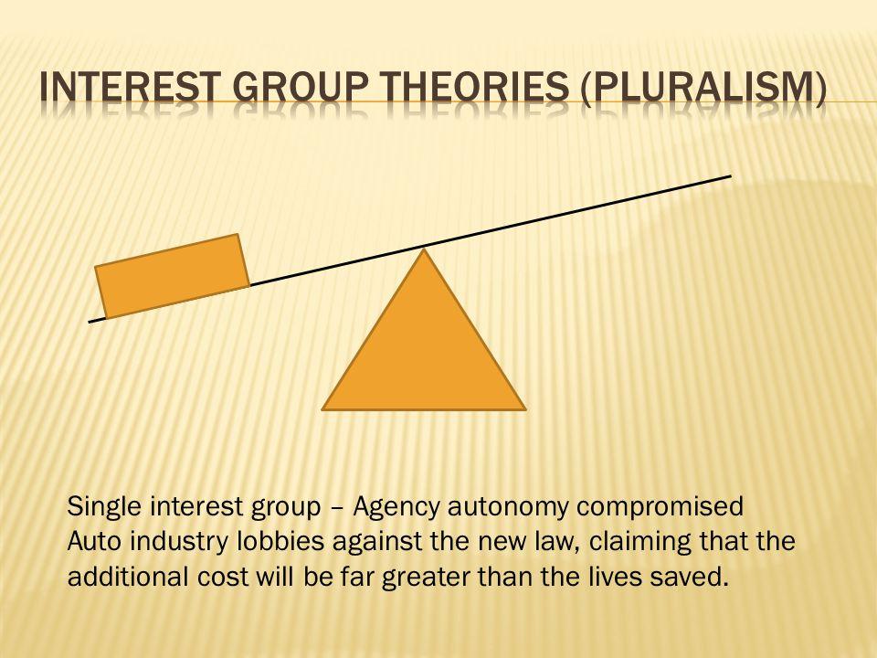 Interest group theories (pluralism)