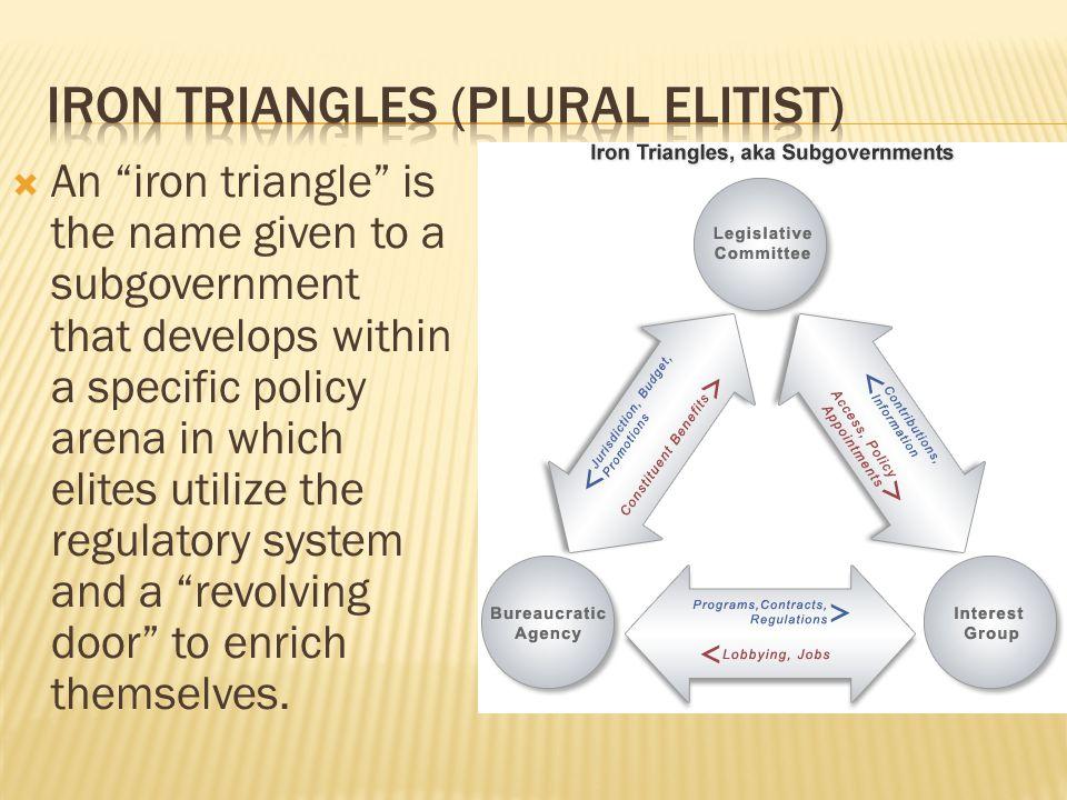 Iron triangles (plural elitist)