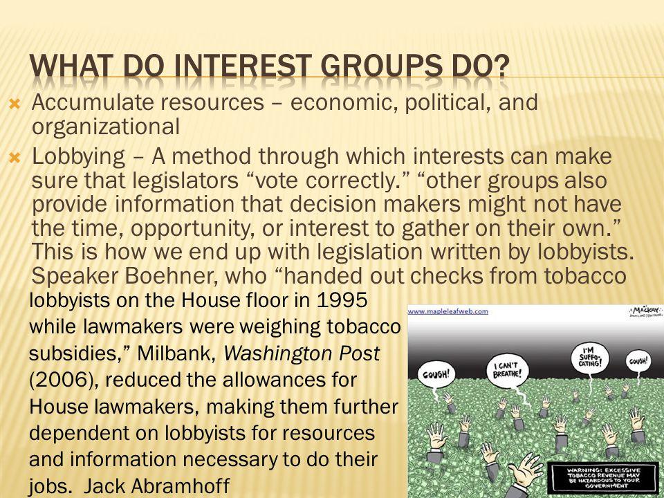 What do interest groups do