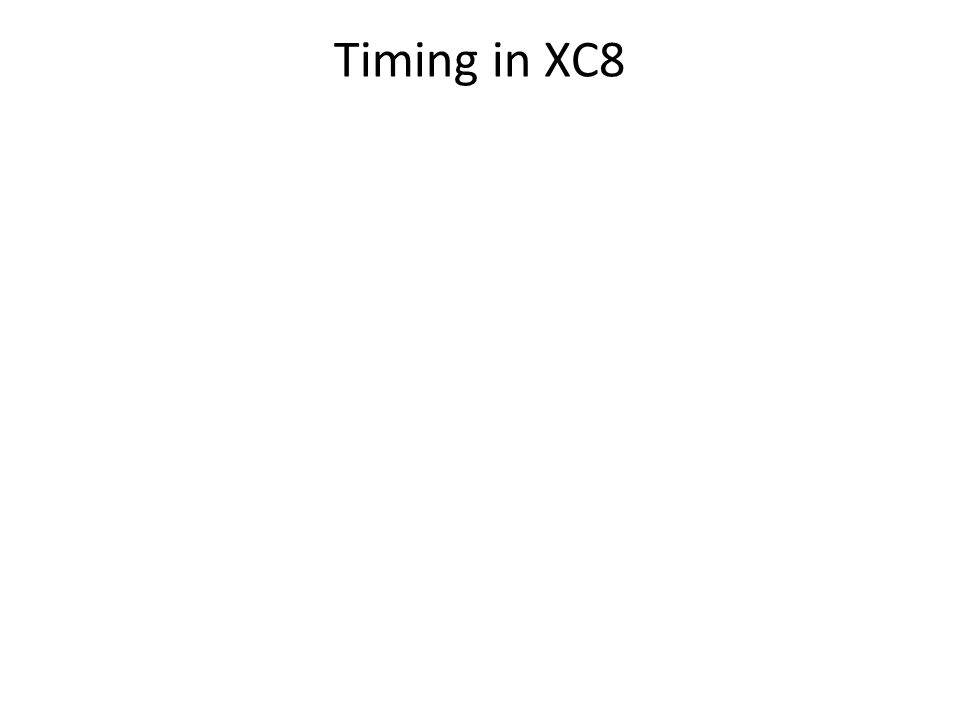 Timing in XC8