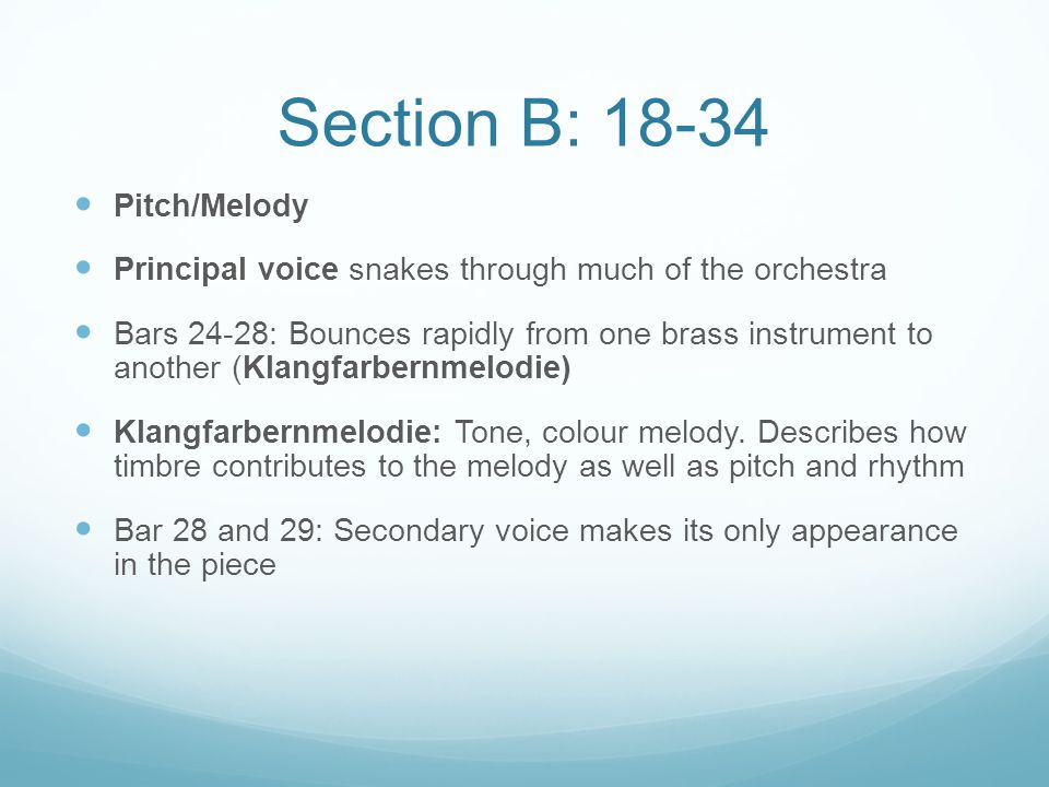 Section B: 18-34 Pitch/Melody