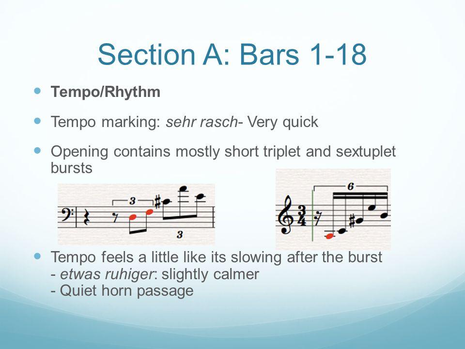 Section A: Bars 1-18 Tempo/Rhythm