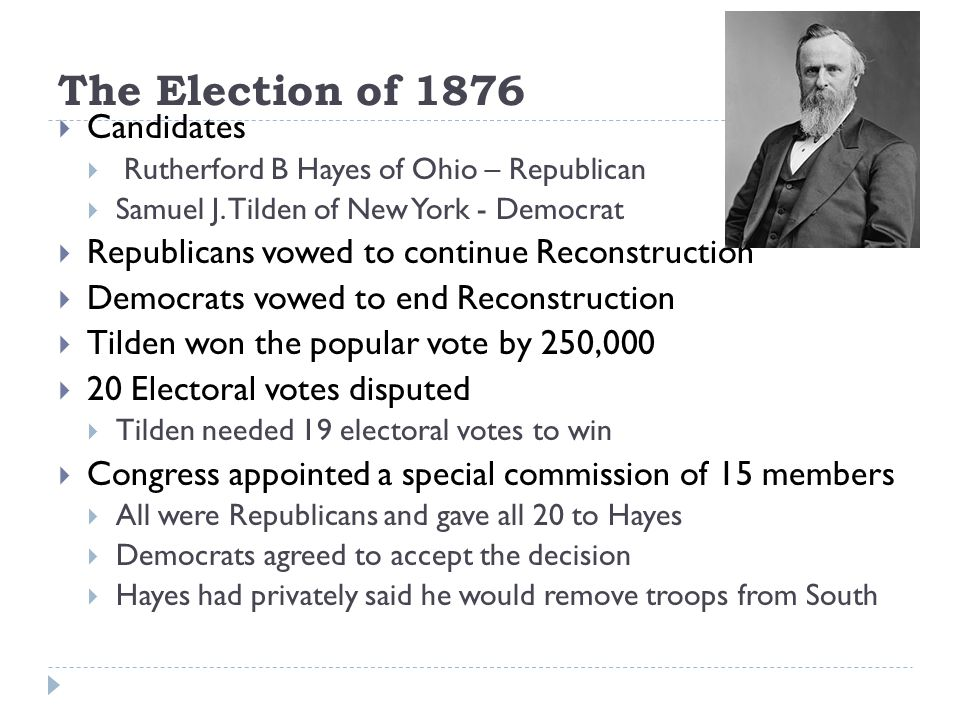 The Election of 1876 Candidates