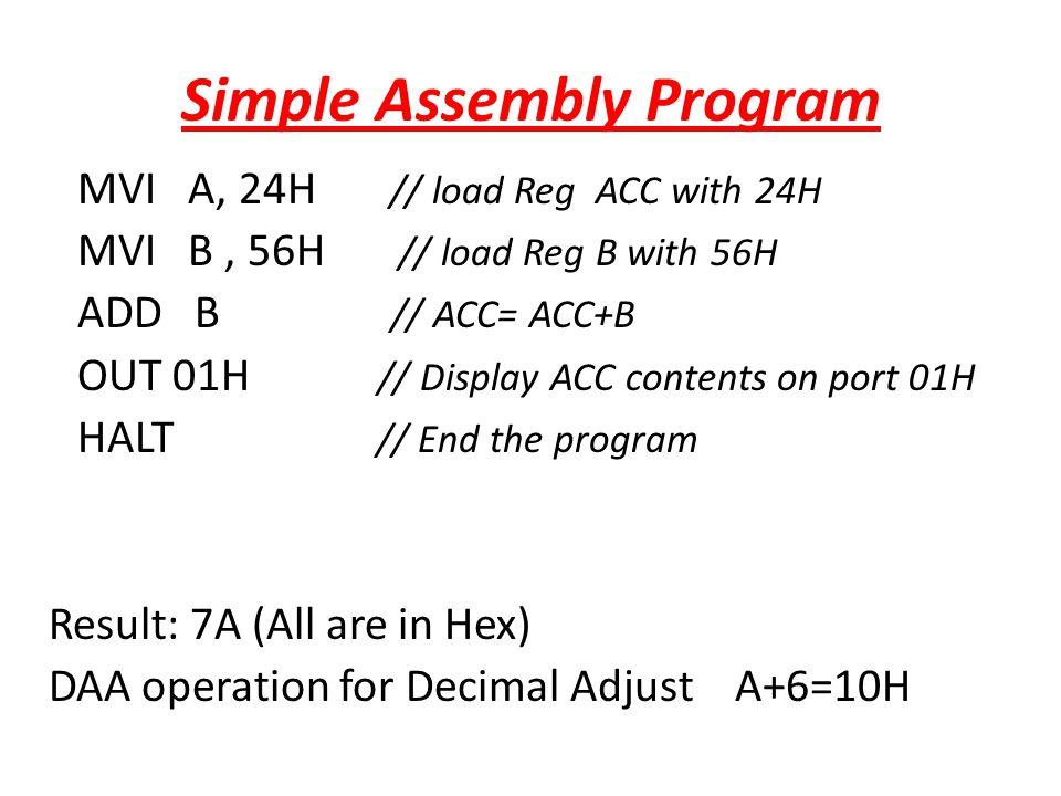 Simple Assembly Program