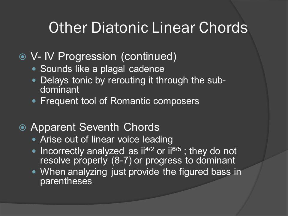 Other Diatonic Linear Chords