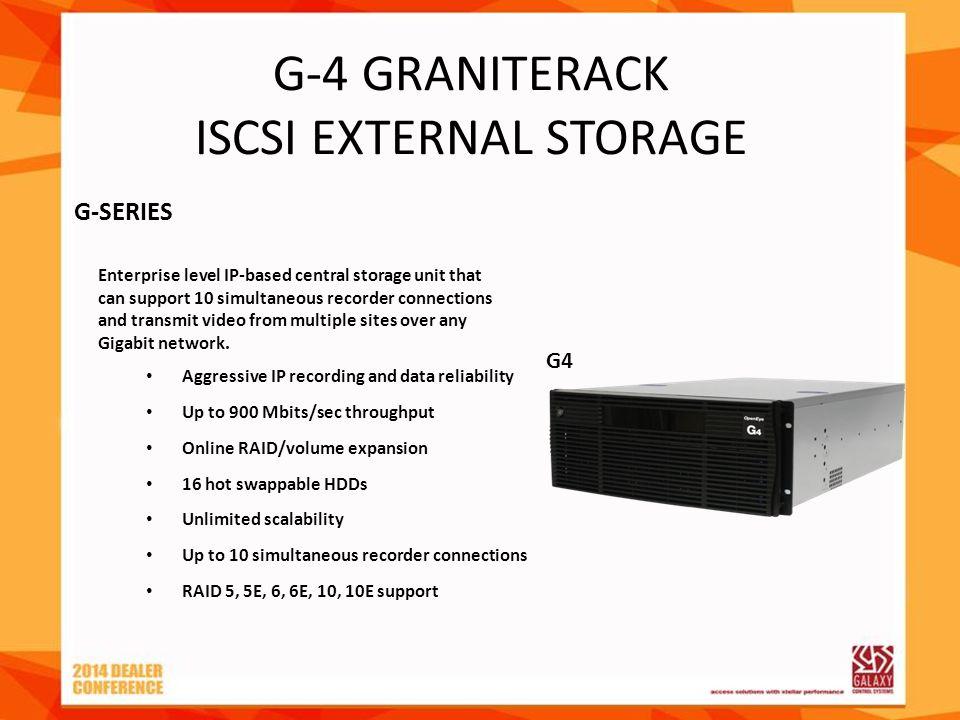 G-4 GRANITERACK ISCSI EXTERNAL STORAGE