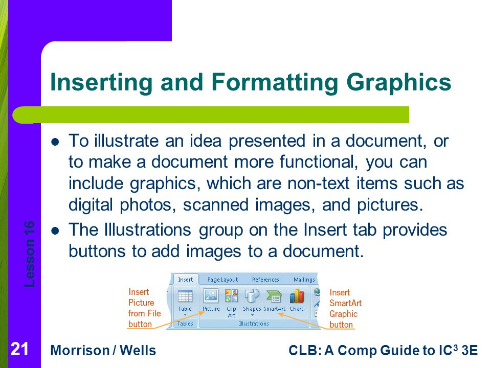 Inserting and Formatting Graphics