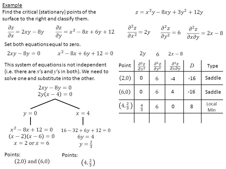 Set both equations equal to zero.