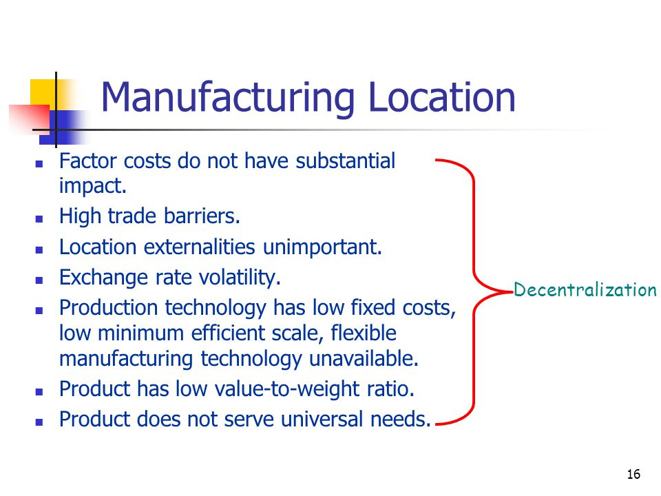 Manufacturing Location