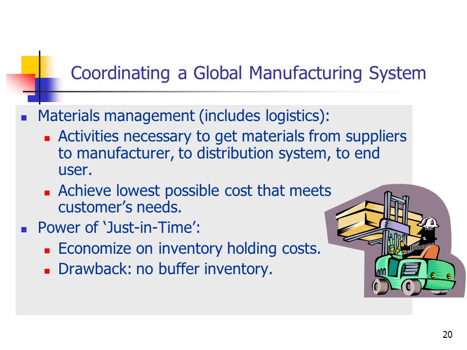 Coordinating a Global Manufacturing System
