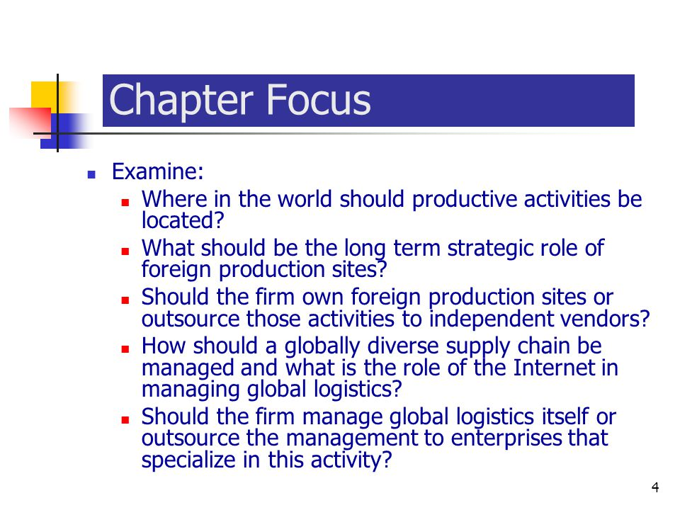 Chapter Focus Examine: