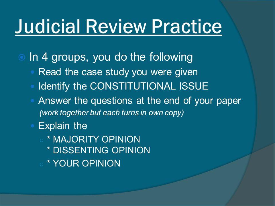 Judicial Review Practice
