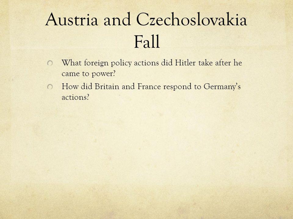 Austria and Czechoslovakia Fall