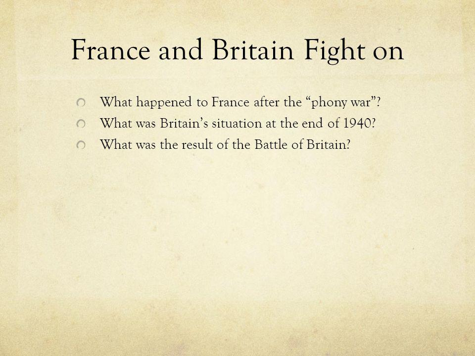 France and Britain Fight on