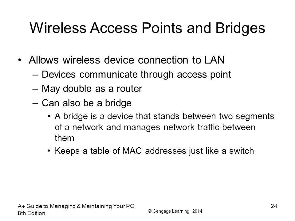 Wireless Access Points and Bridges