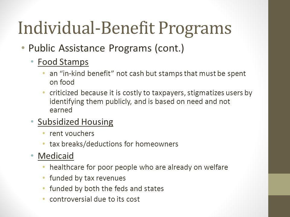 Individual-Benefit Programs