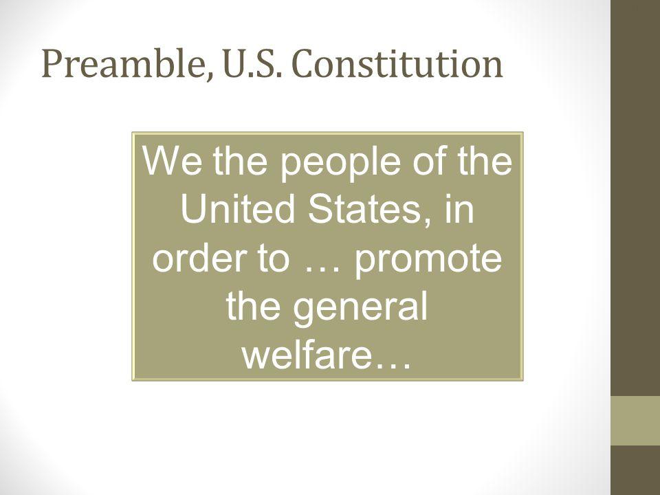 Preamble, U.S. Constitution