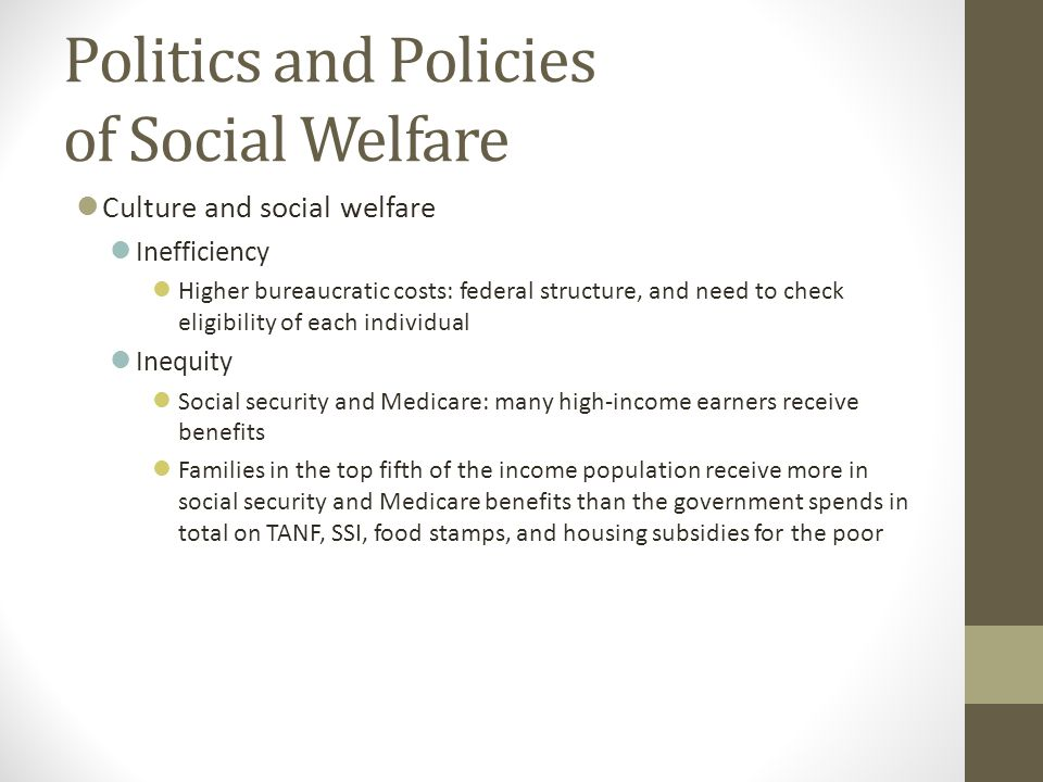 Politics and Policies of Social Welfare