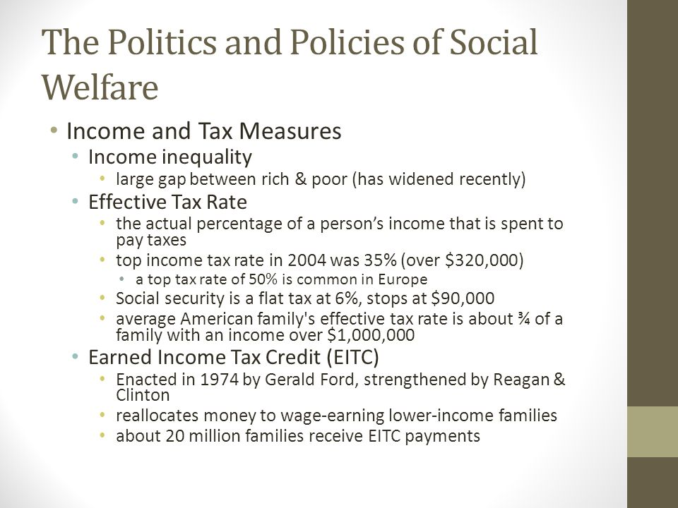 The Politics and Policies of Social Welfare