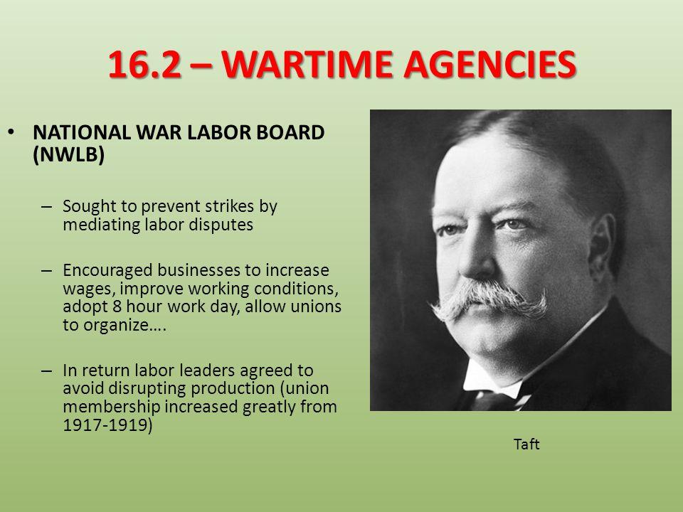 16.2 – WARTIME AGENCIES NATIONAL WAR LABOR BOARD (NWLB)