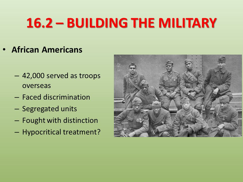 16.2 – BUILDING THE MILITARY