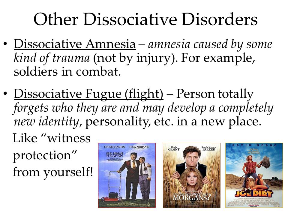Other Dissociative Disorders