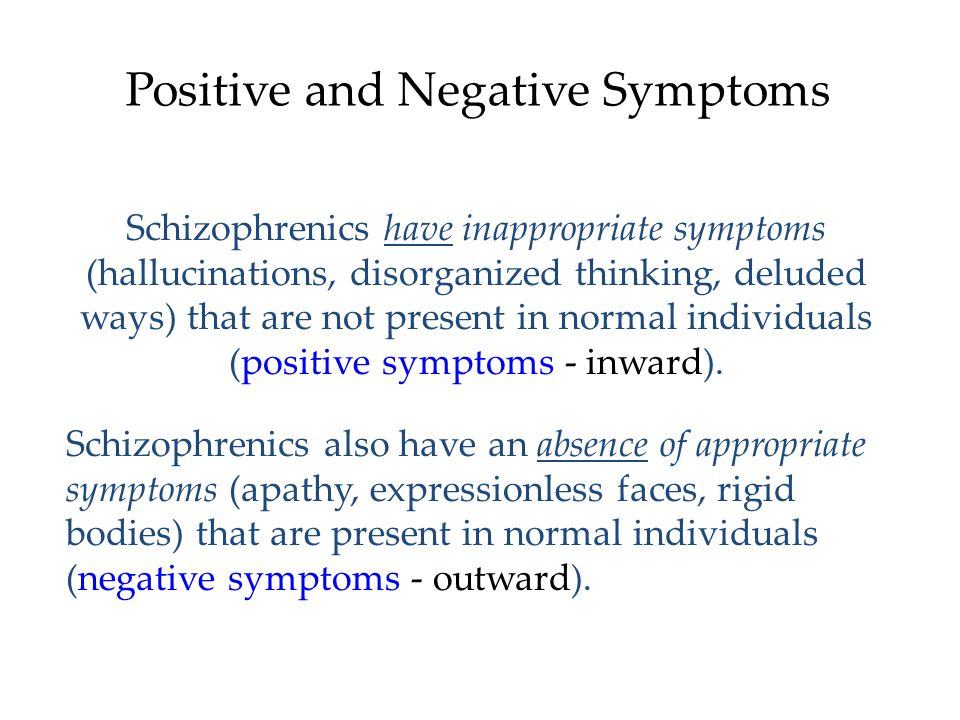 Positive and Negative Symptoms