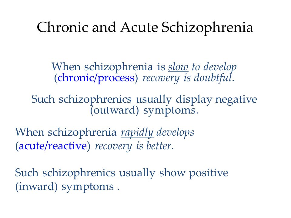 Chronic and Acute Schizophrenia
