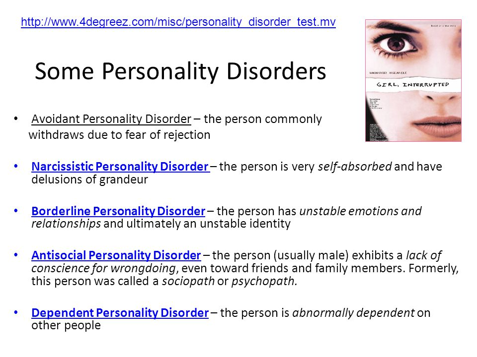 Some Personality Disorders