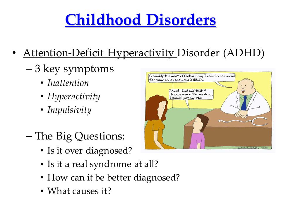 Childhood Disorders Attention-Deficit Hyperactivity Disorder (ADHD)