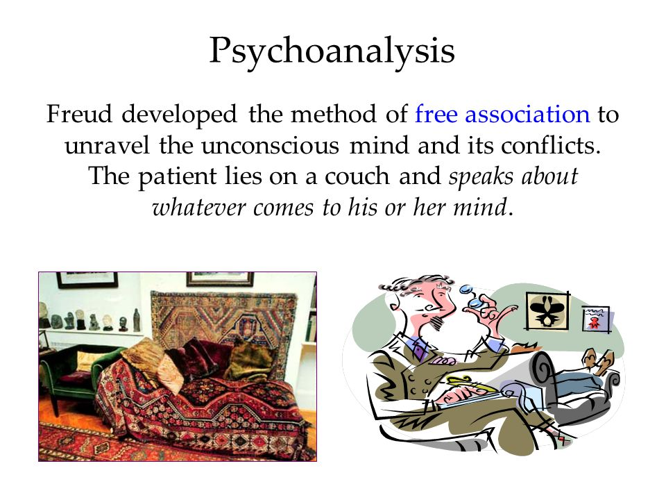 an analysis of the psychoanalysis a form of therapy These three components form the structural model of what we know as  personality  the psychoanalytic therapist provides an interpretation of the  patient's.