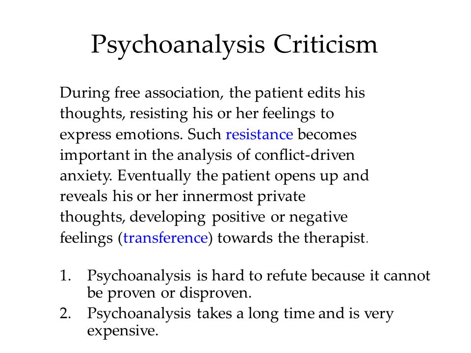 Psychoanalysis Criticism