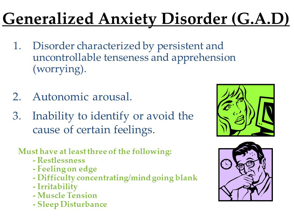 Generalized Anxiety Disorder (G.A.D)
