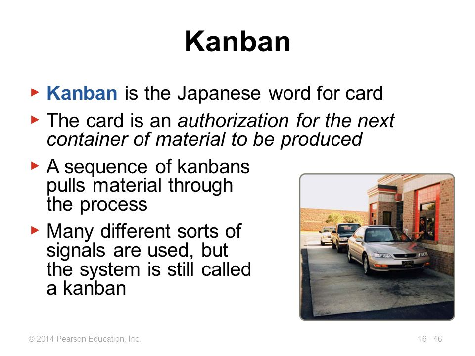 Kanban Kanban is the Japanese word for card