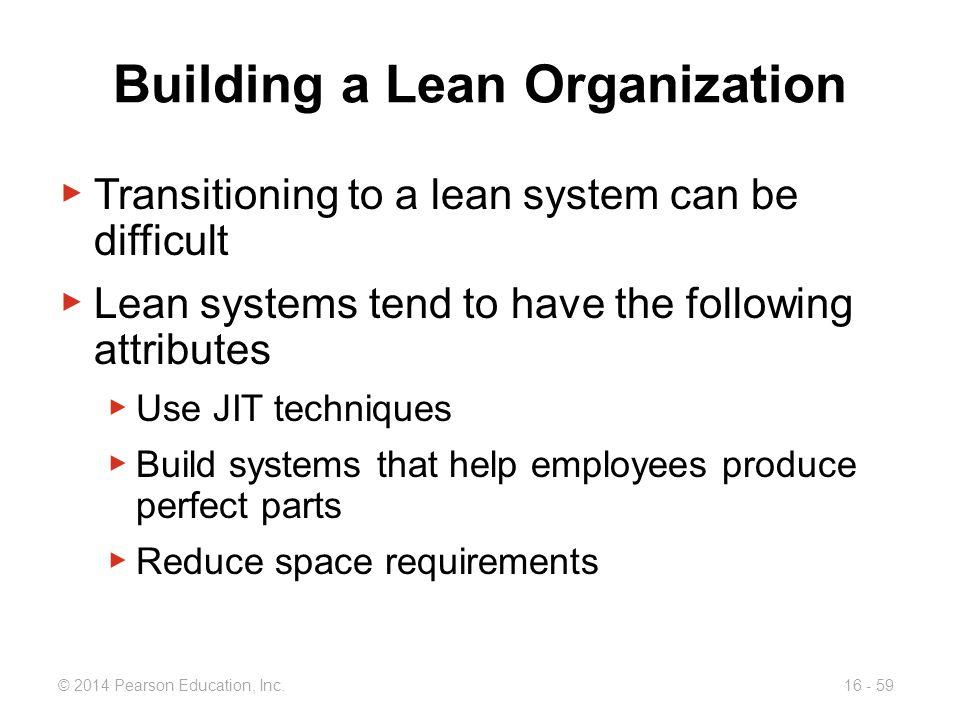 Building a Lean Organization