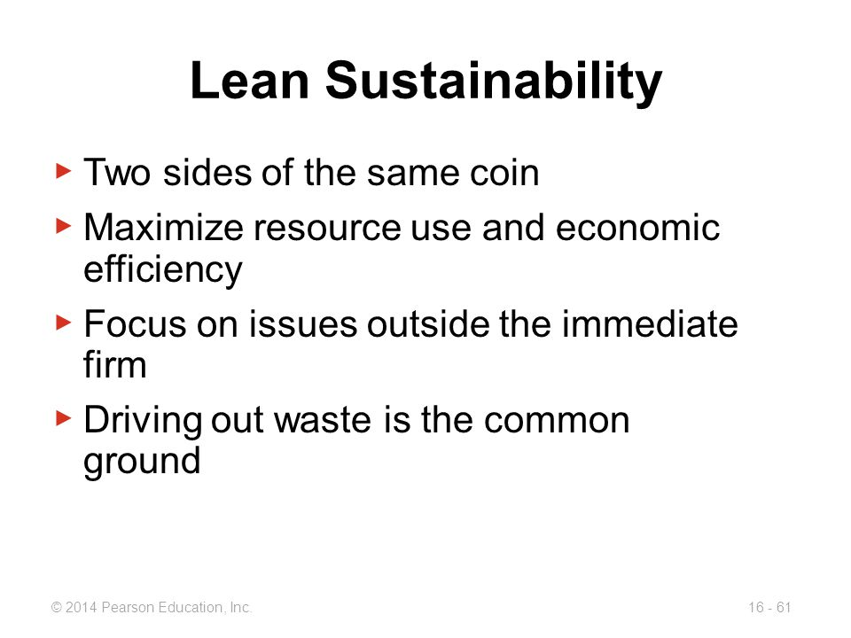 Lean Sustainability Two sides of the same coin
