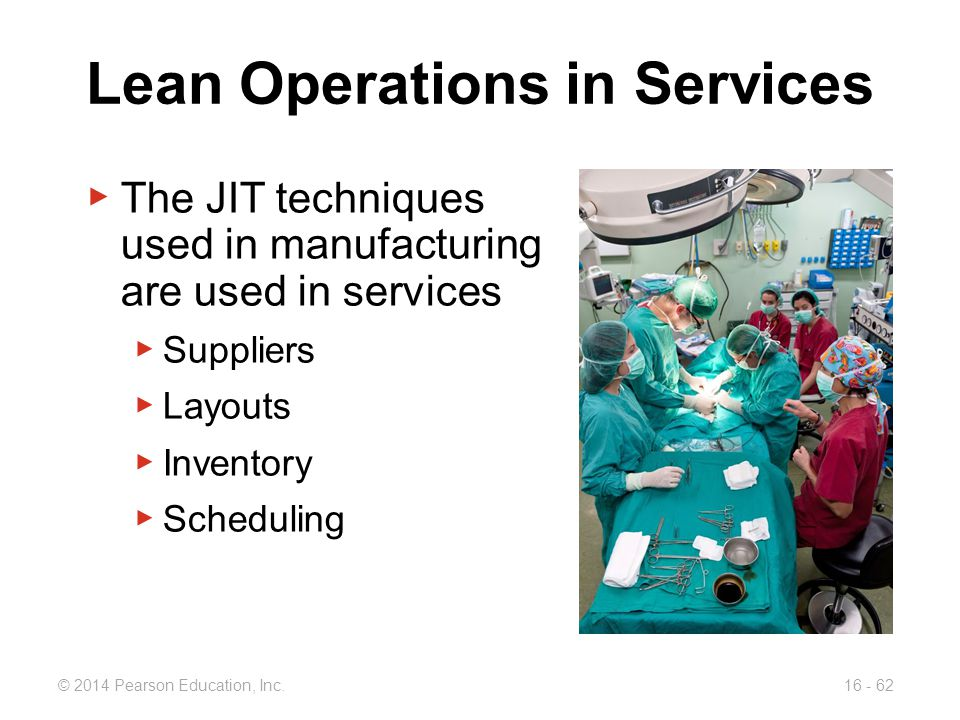 Lean Operations in Services