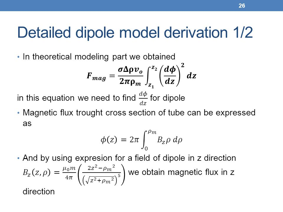 Detailed dipole model derivation 1/2