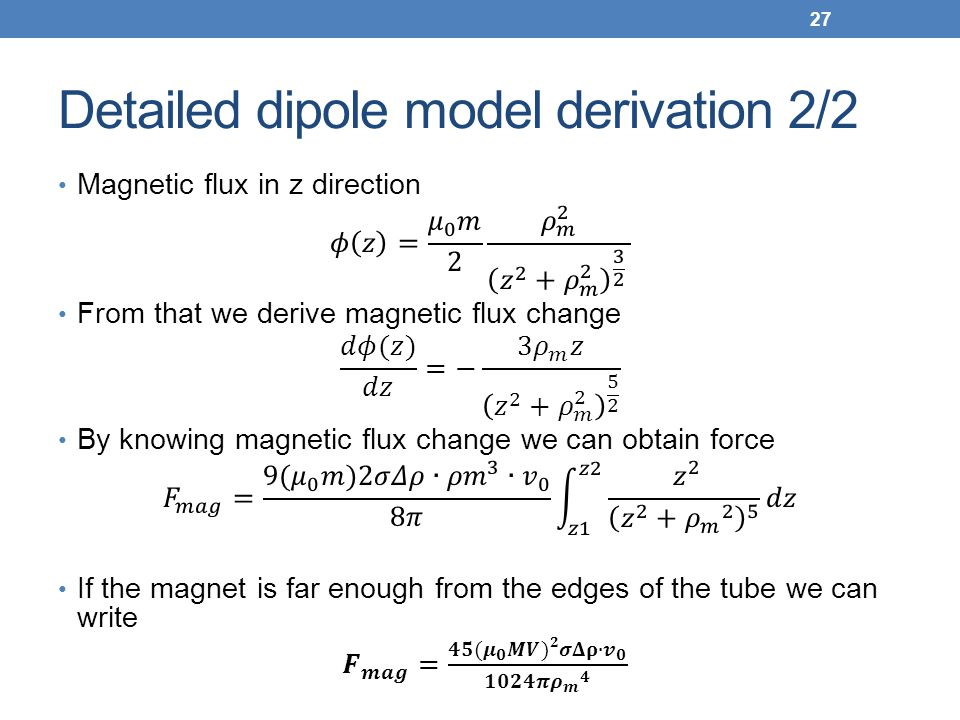 Detailed dipole model derivation 2/2