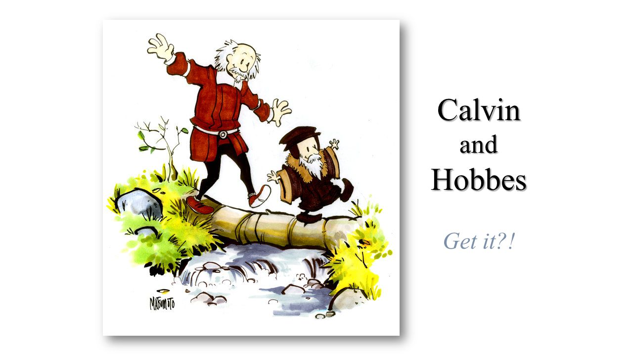 Calvin and Hobbes Get it !
