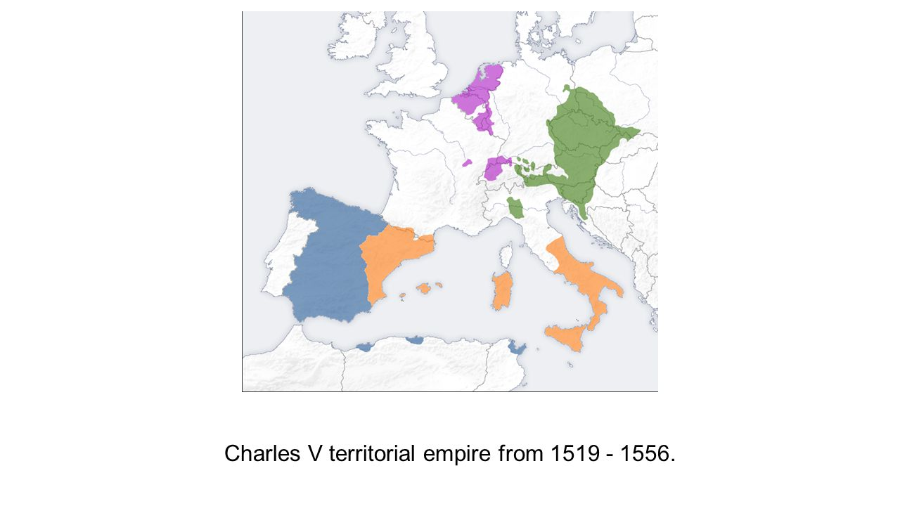 Charles V territorial empire from 1519 - 1556.