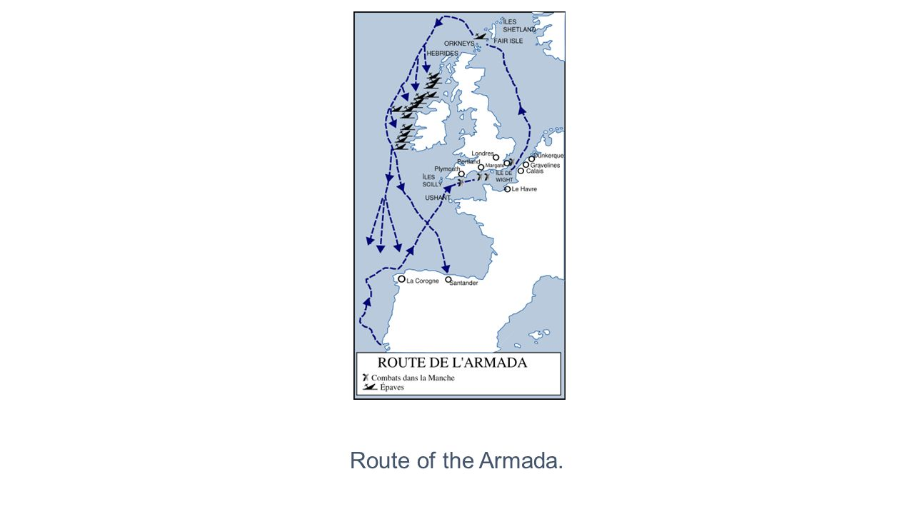Route of the Armada.