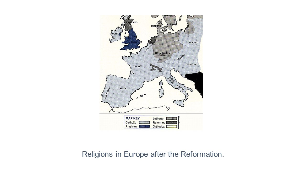 Religions in Europe after the Reformation.